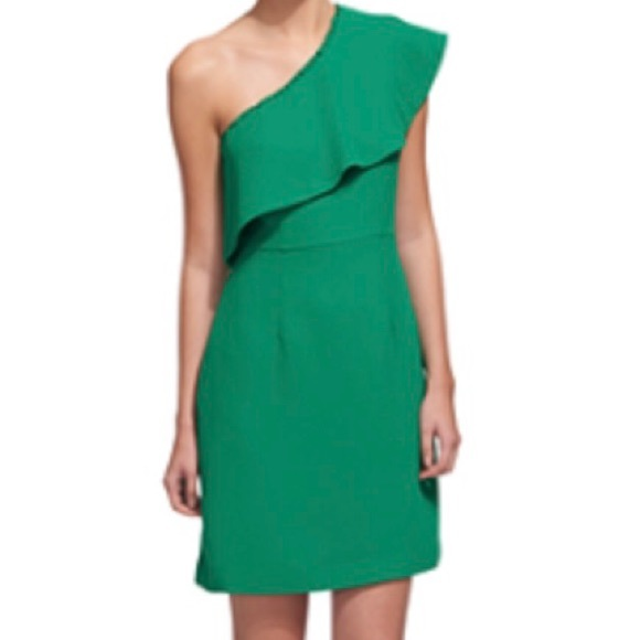 8453cbf0c2f59 WHISTLES TEAGAN ONE SHOULDER DRESS  280 SOLD OUT